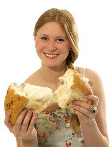Brot aus Brot-Backautomat